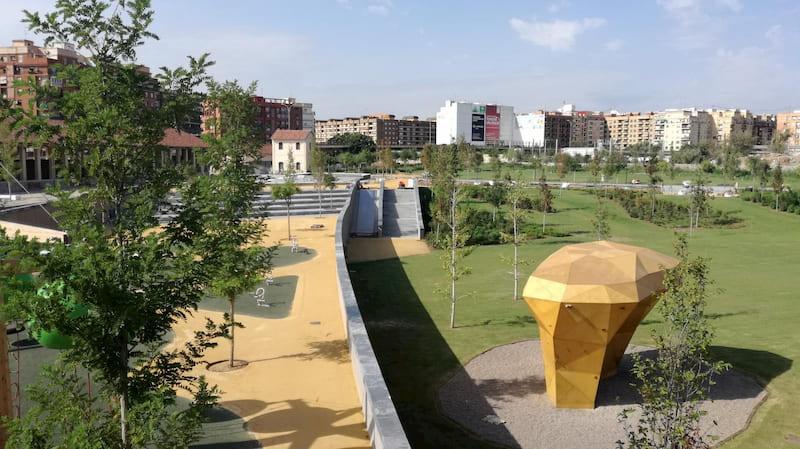 Parc Central de Valencia en Ruzafa